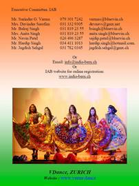 Flyer of Garba Workshop - Indian Association of Greater Zürich 2018